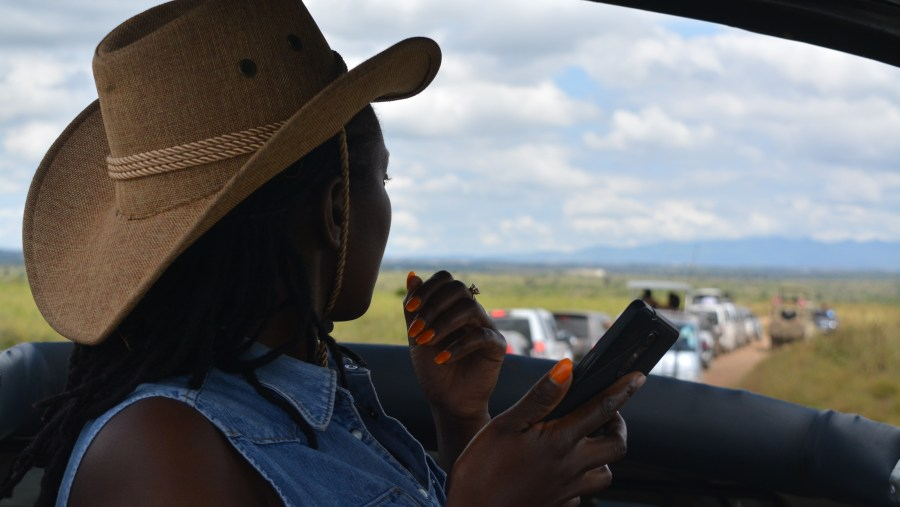 Our client on a day trip tour at Nairobi