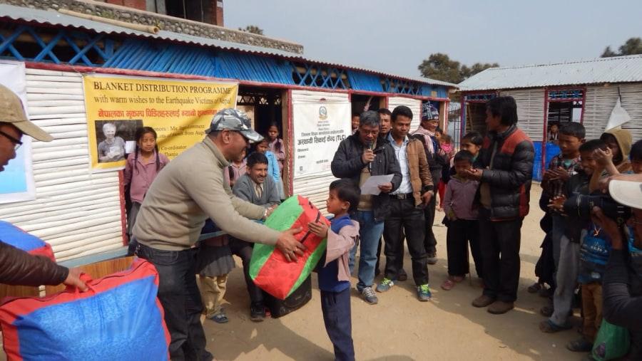 Post Earthquake relief distribution prog