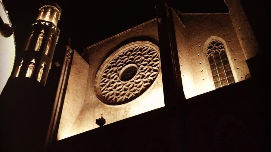 Santa Maria del Mar Gothic Church in Born Area