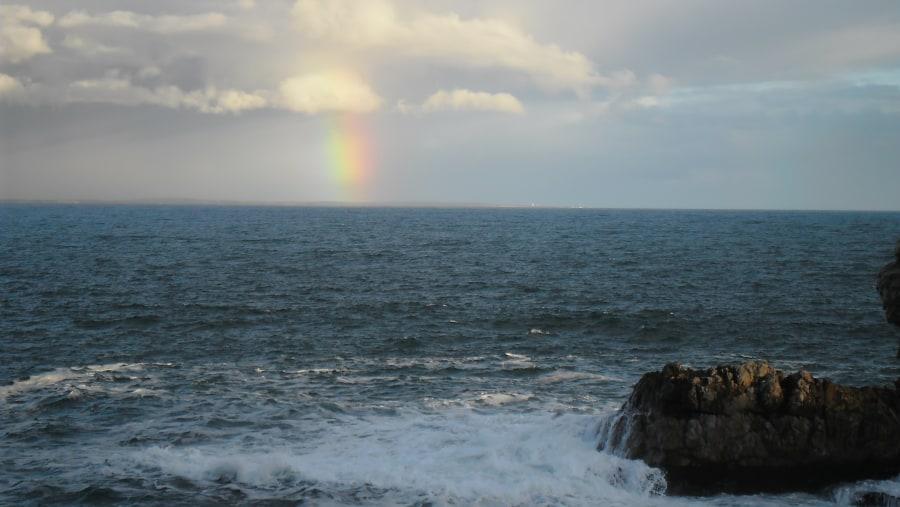 Rainbow over Walker Bay