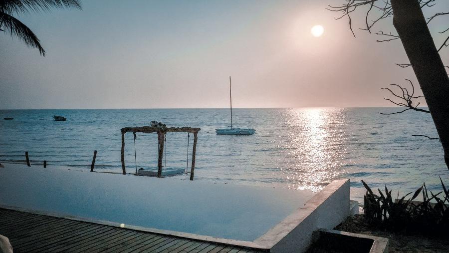 Sunset, Swimmingpool, beach