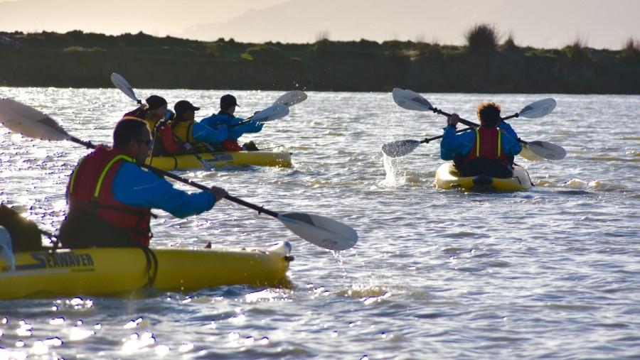 Sunset kayaking in Butrint