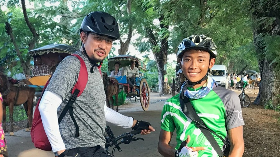 Great cycling tour from Mandalay to Bagan with Kaung