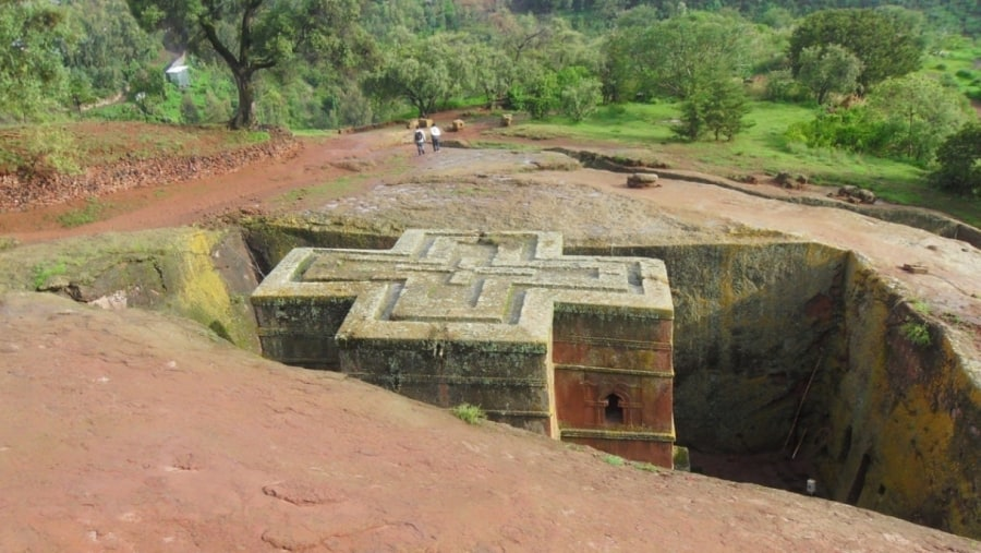 one of The 11 Rock hewn churches of Lalibela
