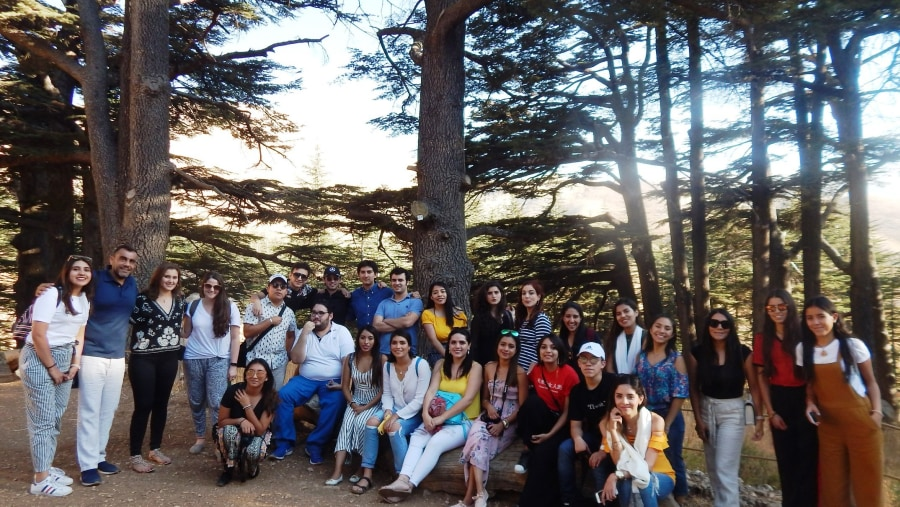 Mexican universitarian in the Cedars of God forest in Besharre (2018-09)