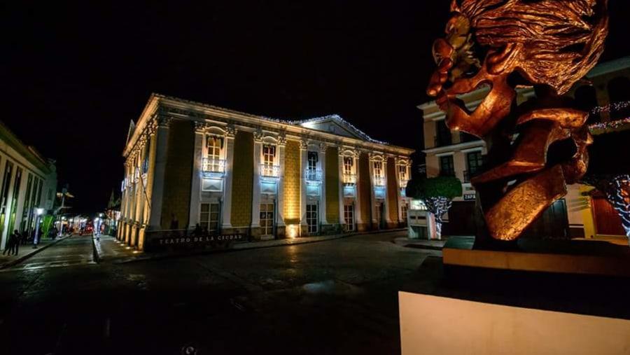 Centro nocturna vista