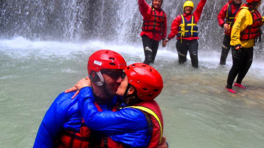 The legend says that if a couple kiss each-other under the waterfall of Love they will be forever in love.