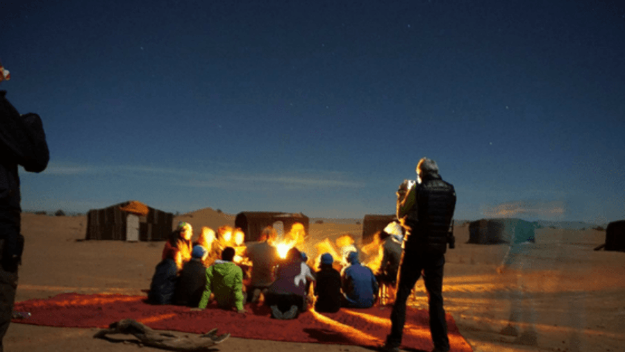 Star gazing in Morocco Sahara