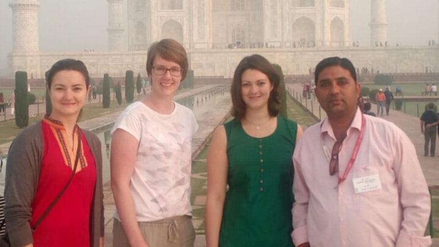 My Guests at Taj Mahal