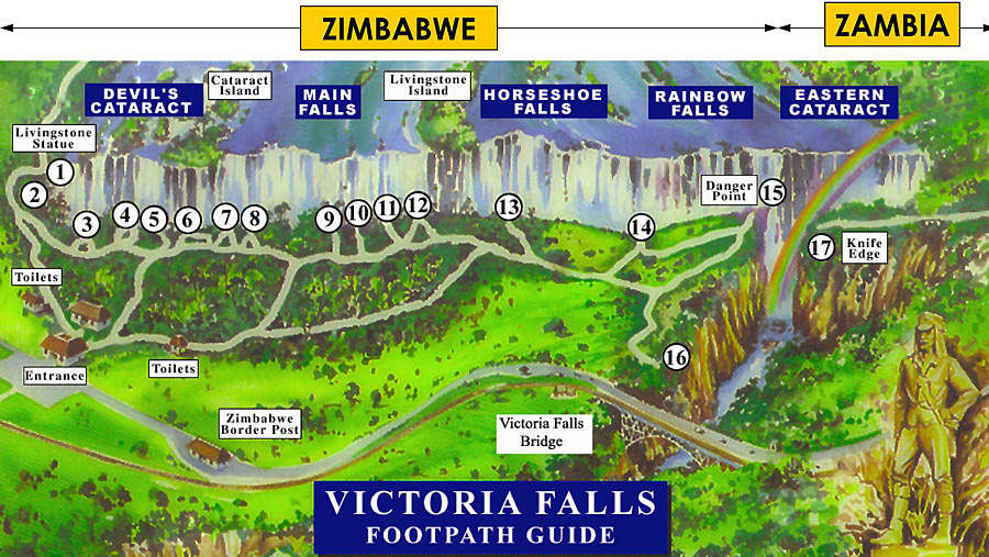 3/4 of the Falls can be viewed from the Zimbabwe side