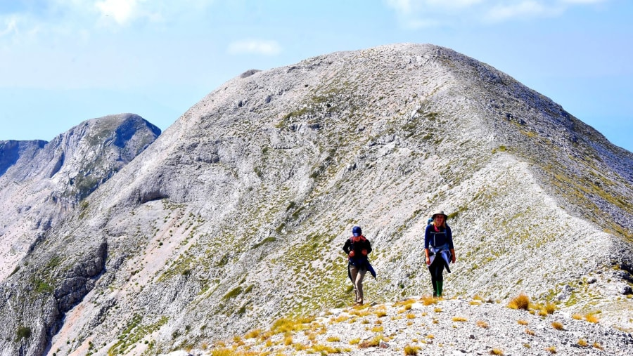 Hiking the summit of Tomorr mountain