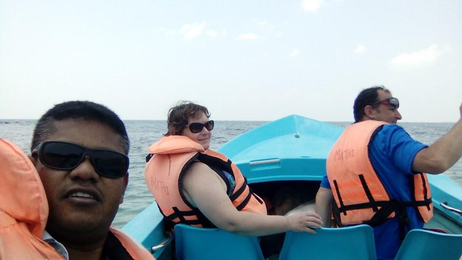 Nilawali on the boat