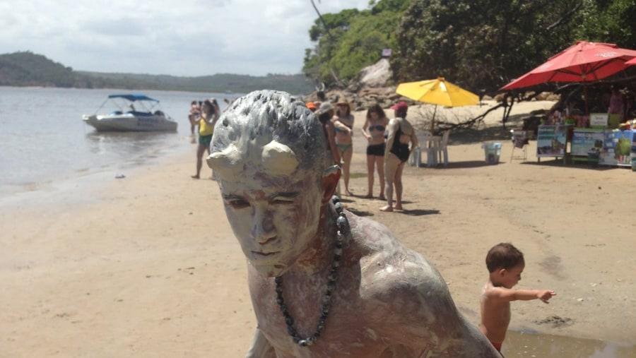 Praia dos Carneiros (banho de argila)