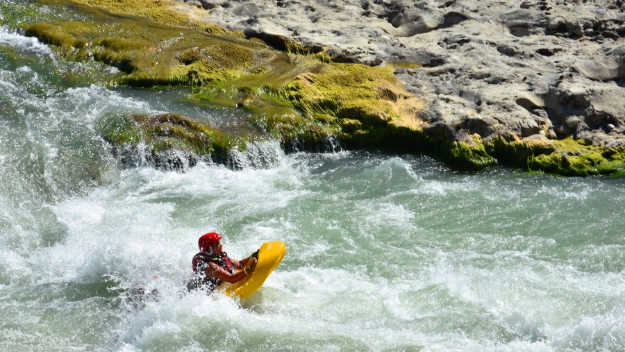 Hydrospeed is a medium difficulty activity and does not require much strength