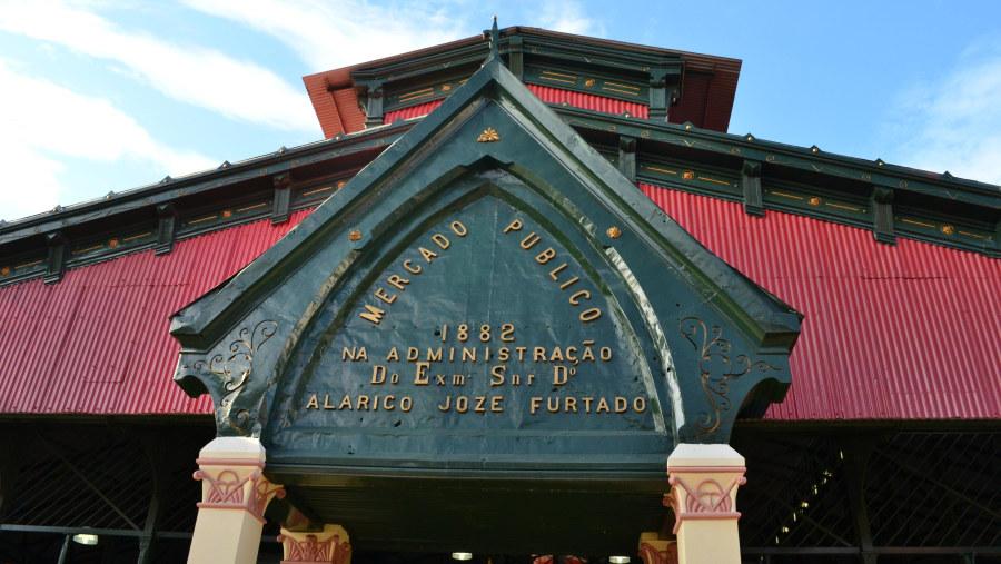 visit central market at Manaus Brasil