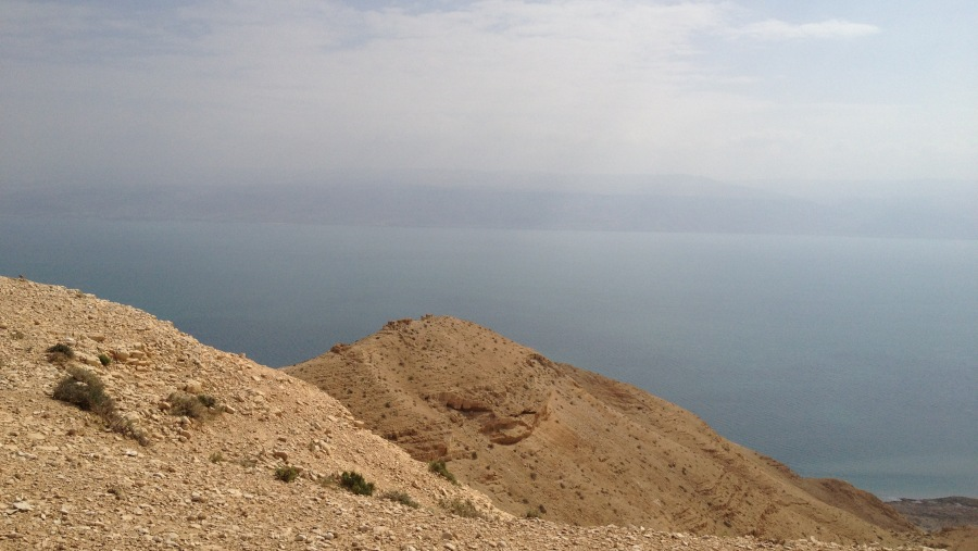 Judean desert & Dead sea near Jerusalem