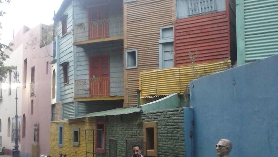 At Caminito, La Boca.