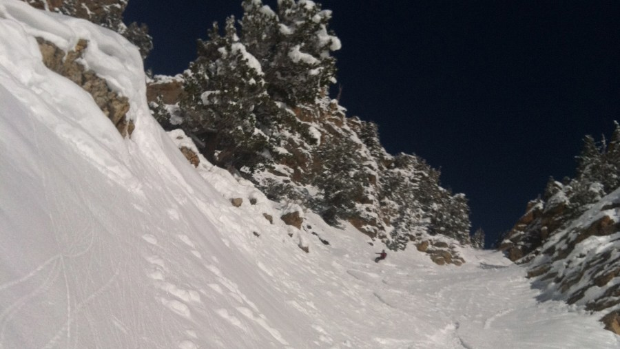 Whipple Couloir, Wasatch Utah