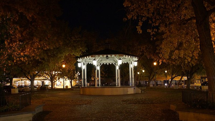 The Old Town Gazebo located in the middle of the Plaza