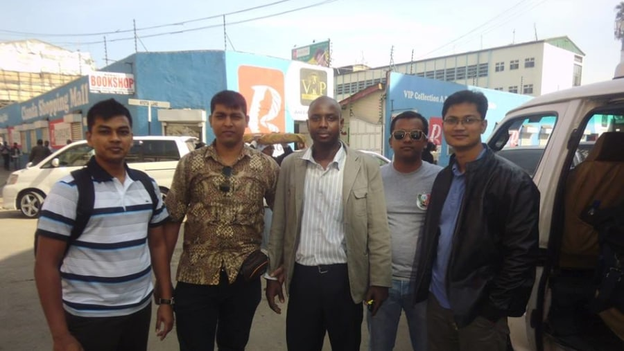 capt faud,mohammed ali,david and the group