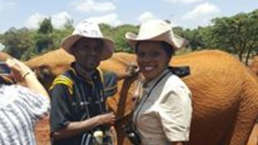 At David Sheldrick elephant orpharnage