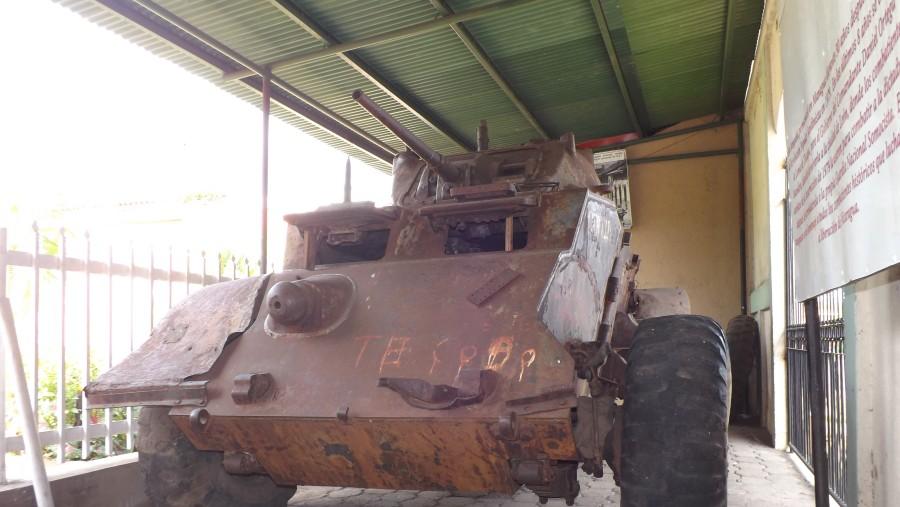 Old tank in Leon