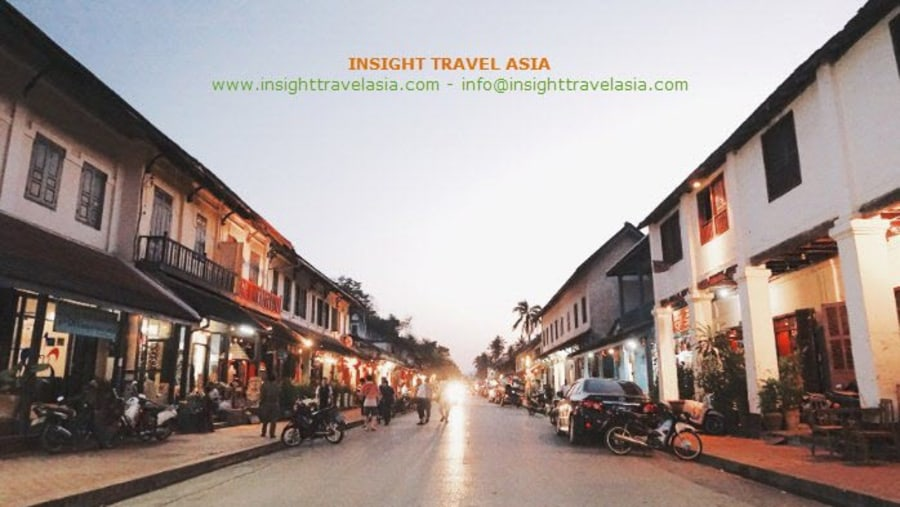 Luang Prabang town after Sunset is over