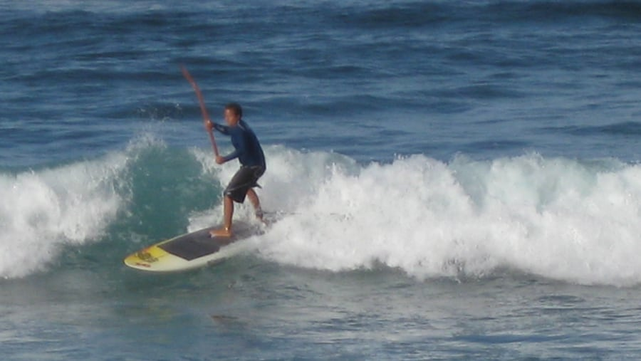 A Paddle Surfer at the Soup Bowl, Bathsheba