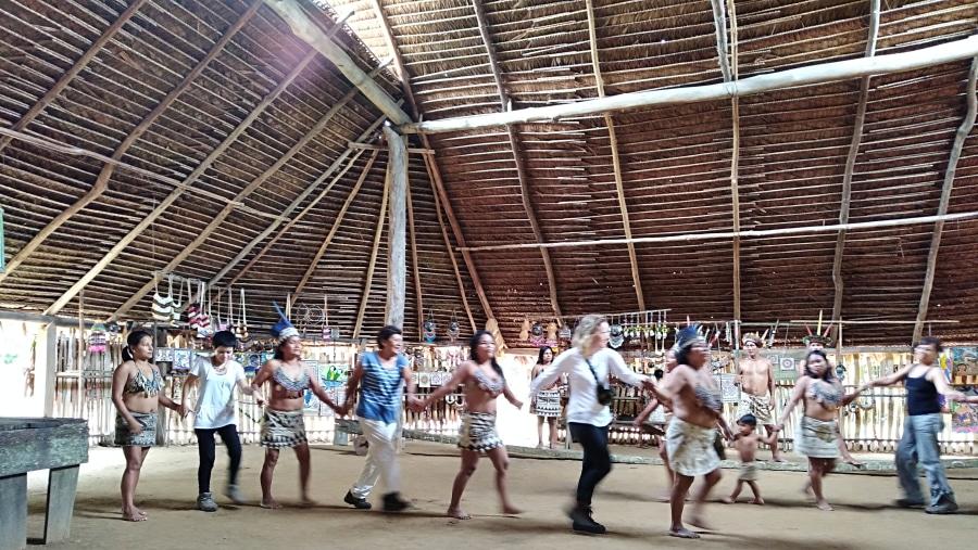 visiting indigenous tribe bora native