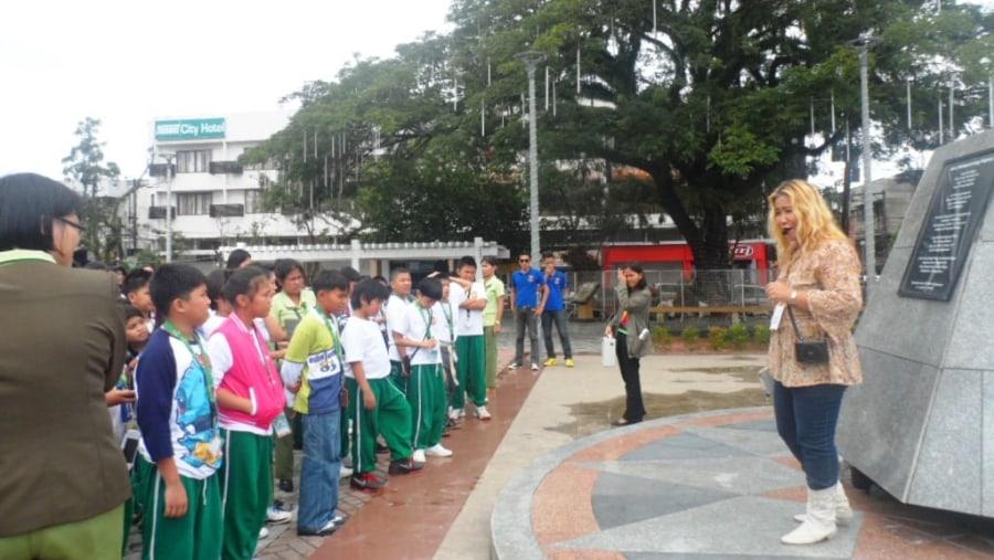 Education tour with elementary students form Surigao City at Guingona Park