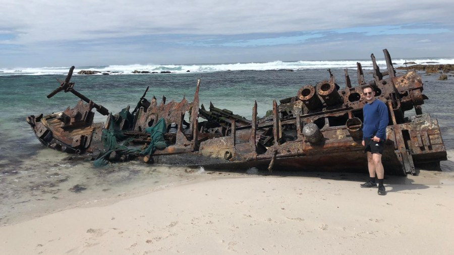 Another wreck along the coast