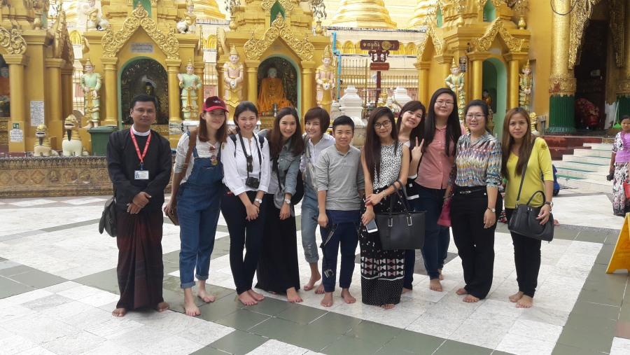 At shwedagon Pagoda