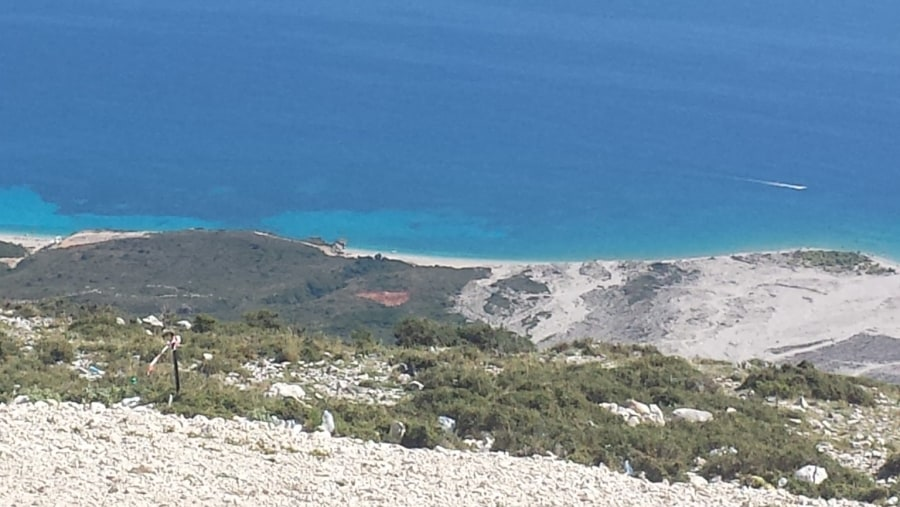 Panorama Llogara mountain paragliding jump places