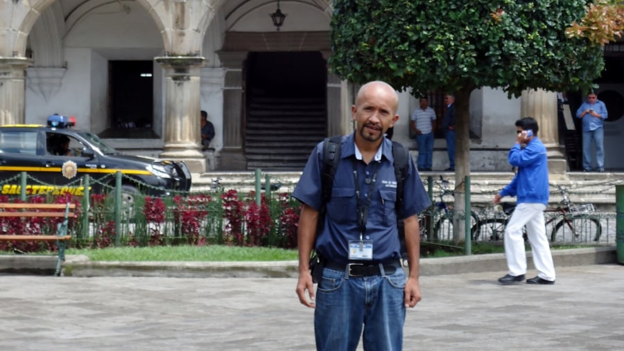 At La Antigua's main Plaza