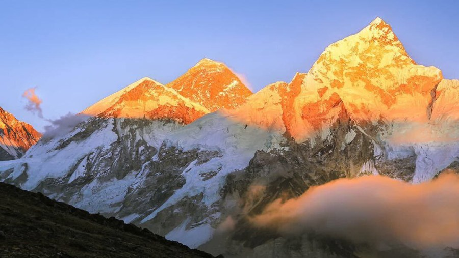 Sunset view with Mount Everest