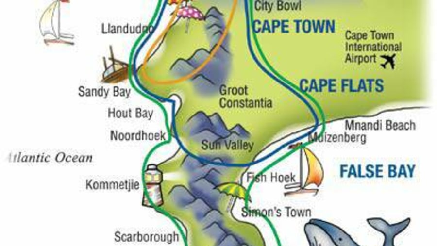 Cape Point/ Cape of Good Hope Tour map