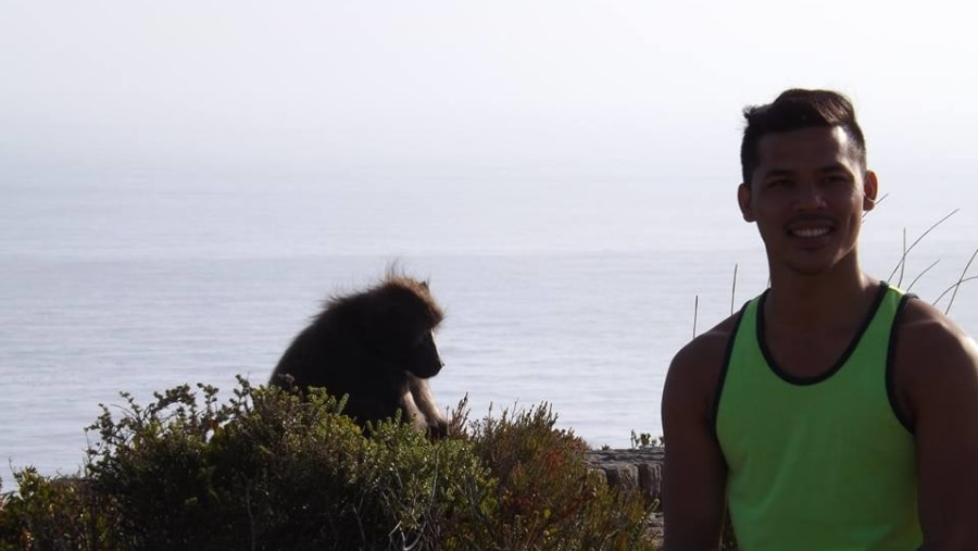 At Cape Point,you never know who is going to be looking over your shoulder!!!
