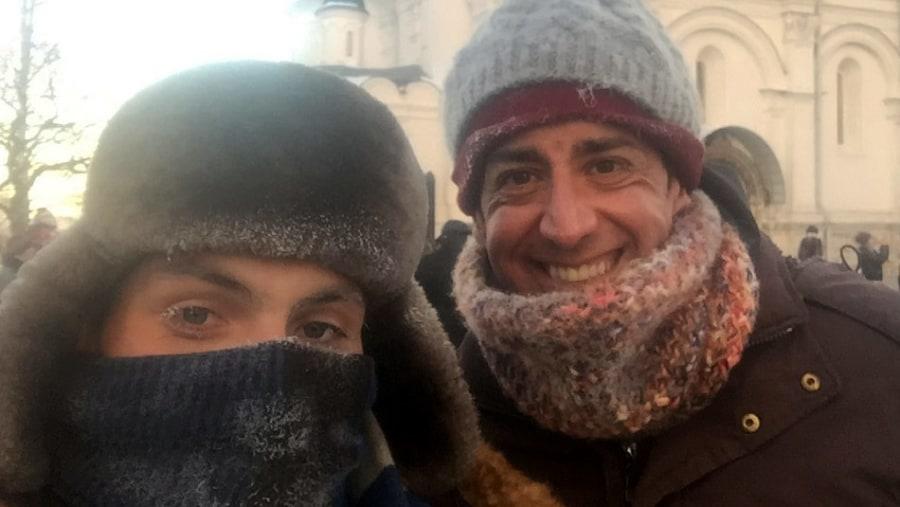 Turismo en Moscú con guía a 28 grados bajo cero