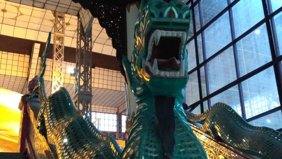 Mosaic Dragon @ Shwe Thar Hlyaung Buddha Image