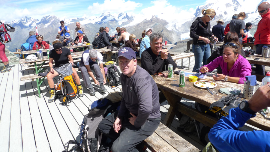 Arrival at the Hornli Hut
