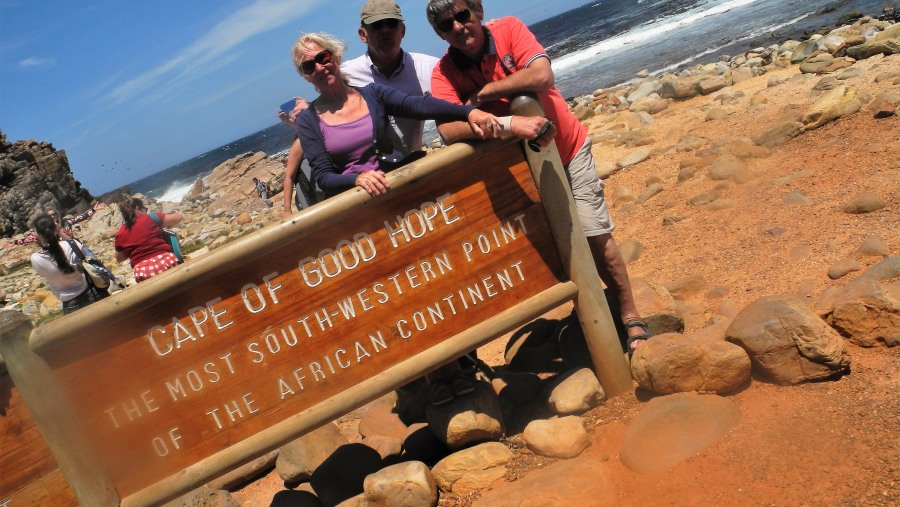 With Lea amd Hein from The Netherlands at Cape of Good Hope