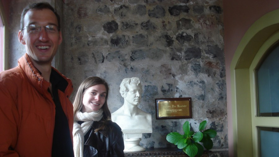 In the room where Alexander von Humboldt was lodged in 1802.