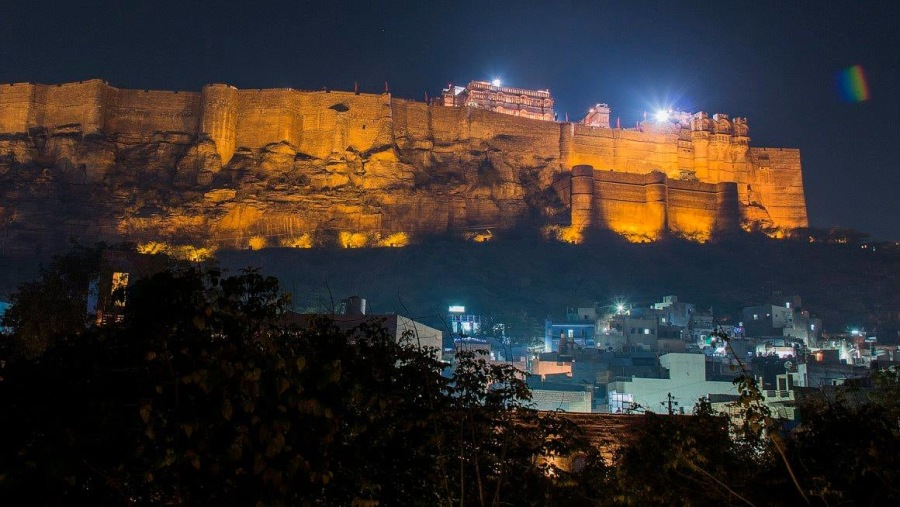 jodhpur fort at night