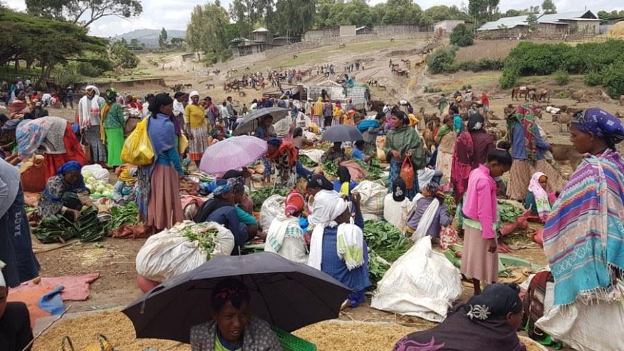 Local market of Adadi MAriam near Tiya