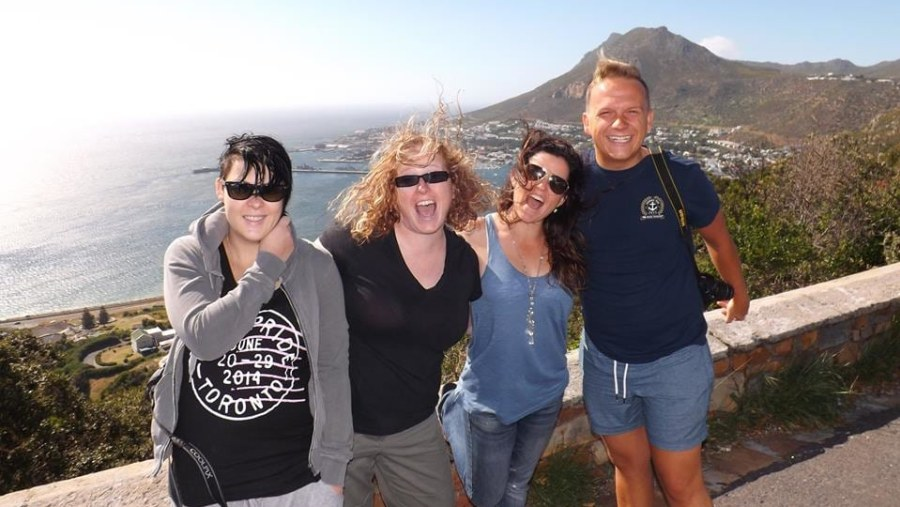 Korli,Angela,Kelly and Dean ,craazzzyyy crowd,out enjoying the Harrygetzit Experience.Taken at Red Hill,Simonstown!!!