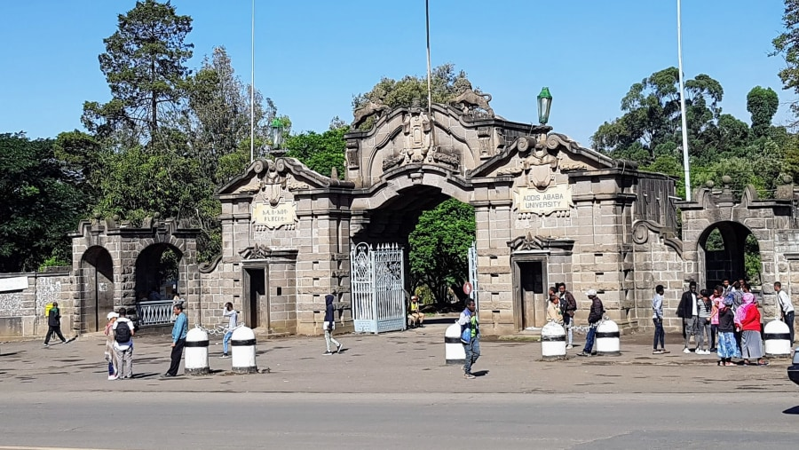 Entrance of Addis Ababa University where the Ethnological Museum is found at
