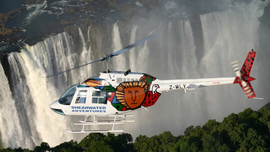Flights, as seen by angels in their flights over the Victoria Falls