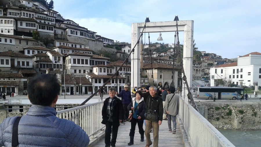 Asian Tourists in Berat, Berat City