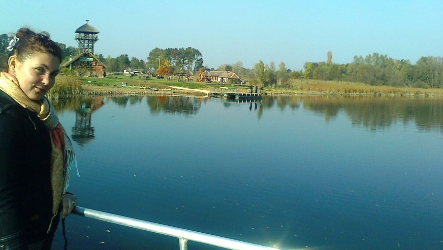 on a boat sightseeing ov nature Reserve Zasavica