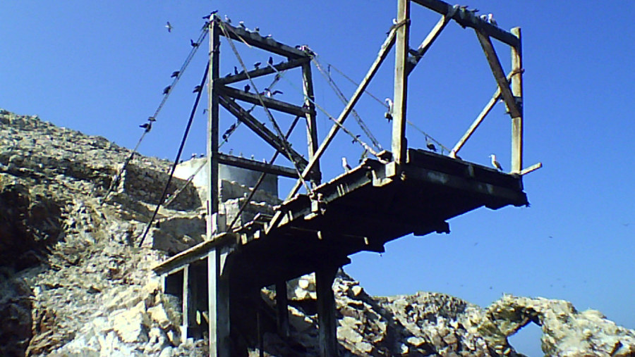 Guano collection pier.